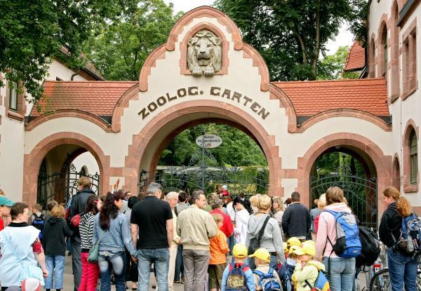 Bild 1 von 1: Eingang zum Zoo Leipzig.