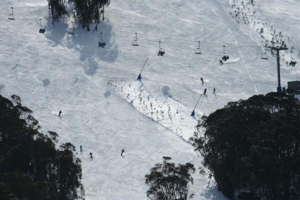Bild 1 von 1: Das Skiparadies Snowy Mountains.
