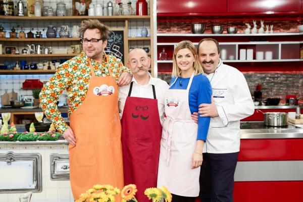 Bild 1 von 2: Paul Panzer, Horst Lichter, Nina Bott und Johann Lafer.