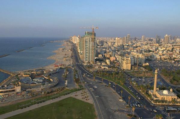 Bild 1 von 2: Blick auf Tel Aviv, die westlichste Stadt im Nahen Osten