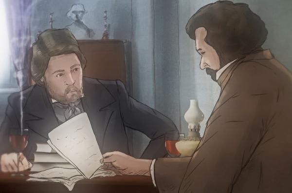 Bild 1 von 7: Die gemeinsame Zeit von Friedrich Engels und Karl Marx in Brüssel gilt als eine ihrer produktivsten. Hier arbeiteten sie an einer Vernetzung aller Kommunisten und schrieben auch das ?\