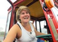 Mit dem Traktor auf Tour