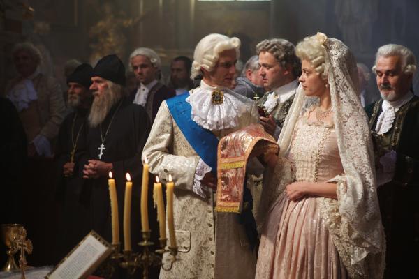 Bild 1 von 4: Katharina die Große (Alma Leiberg) und Zar Peter (Pavel Gajdos)