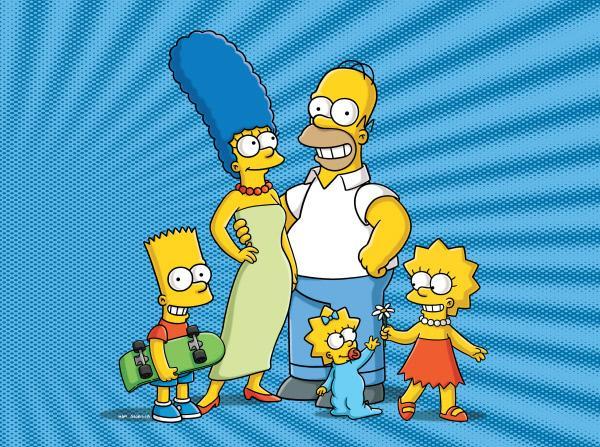Bild 1 von 3: (v.l.) Bart, Marge, Homer, Maggie, Lisa