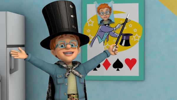 Bild 1 von 7: Norman möchte eine Zaubershow vorführen.