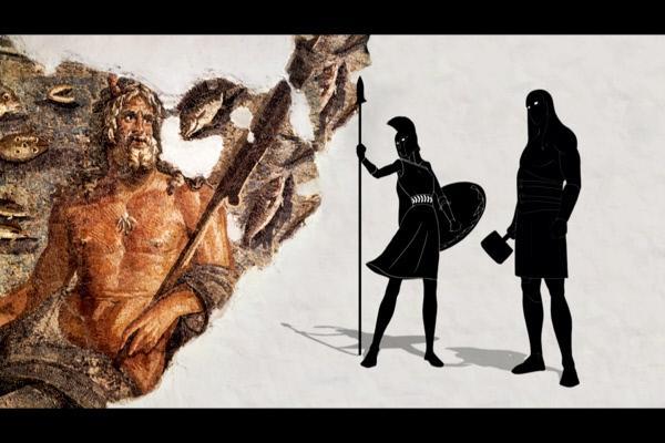 Bild 1 von 2: Die Göttin Athene entsprang dem Mythos zufolge in voller Rüstung dem Kopf des Zeus. Durch diese \