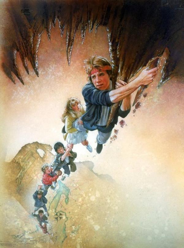Bild 1 von 9: Die Goonies finden auf einem Dachboden eine vergilbte Landkarte, die den Weg zu dem Piratenschatz des Einäugigen Willy, beschreibt ...