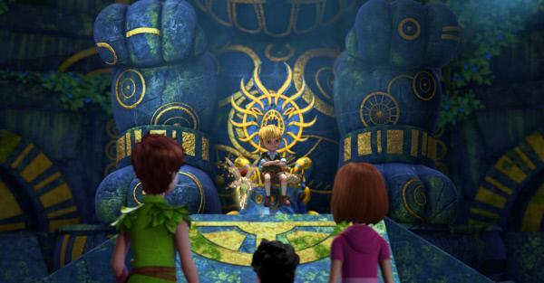Bild 1 von 3: In der Halle der Chumbas treffen Peter, Michael und Wendy auf den bösen Loki. Loki nennt sich \