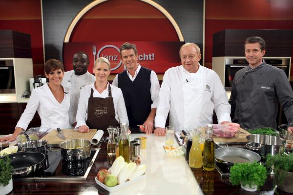Bild 1 von 1: Sybille Schönberger, Nelson Müller, Cornelia Poletto,  Markus Lanz, Alfons Schuhbeck, Alexander Herrmann