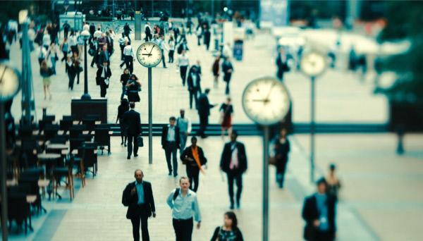 Bild 1 von 9: Zeit ist Geld. Die unerbittliche Mahnung am Finanzplatz London.