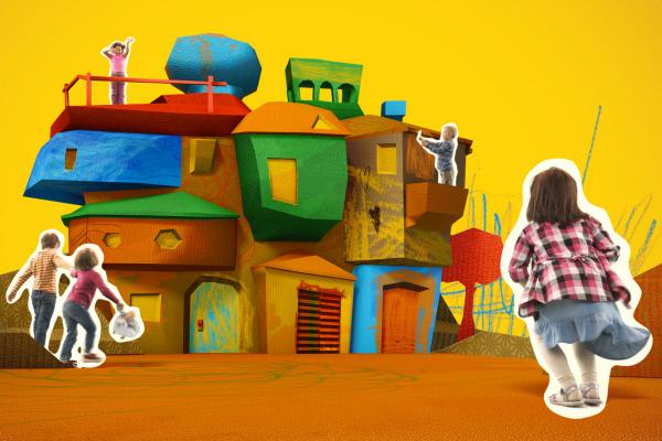 Bild 1 von 15: ENE MENE BU lädt junge Zuschauer ein, sich künstlerisch zu entfalten. Das interaktive TV-Format haucht Bildern und Basteleien Leben ein und präsentiert sie in einer liebevoll und aufwändig gestalteten Pop-up-Welt.