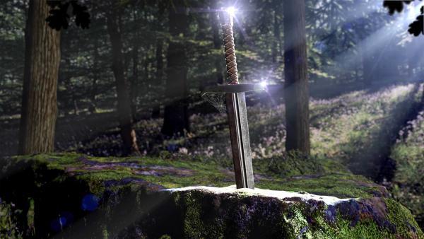 Bild 1 von 13: Excalibur, das magische Schwert von König Artus. Der Sagenkönig gehört zu den bekanntesten Mythen im Nordseeraum.