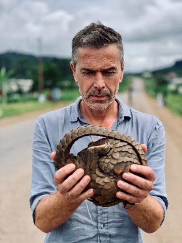 Bild 1 von 1: Der Pangolin ist das am stärksten gejagte Säugetier der Welt. Als Dirk Steffens einen lebende Pangolin bei einem Straßenhändler entdeckt, muss er eingreifen.