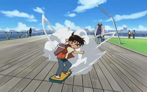 Bild 1 von 5: Ein neuer Fall für Conan (M.): Nachdem er gemeinsam mit seinen Freunden in einen Freizeitpark eingeladen wurde, stellt sich heraus, dass es eine Falle war und er mit Kogoro einen mysteriösen Fall lösen soll. Allerdings haben sie dafür nur 12 Stunden Zeit ...