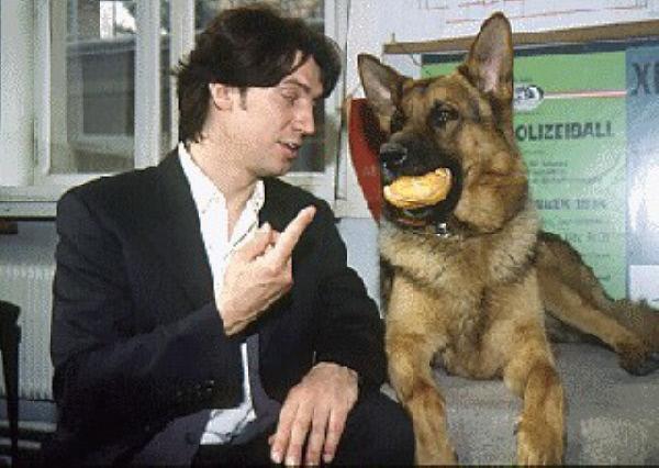 Bild 1 von 13: (1.- 4. Staffel) - Rex schafft es immer wieder, Kommissar Moser (Tobias Moretti) seine Wurstbrötchen abzuluchsen. Seiner ausgeprägten Vorliebe für diese Form der Ernährung hat  Moser wenig entgegenzusetzen.