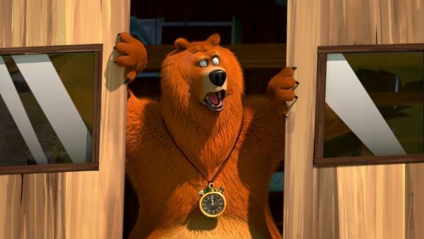 Bild 1 von 23: Grizzy kann es nicht glauben! Obwohl er doch die Zeitstoppuhr hat, scheint sein Plan irgendwie nicht aufzugehen. Scheint, als könne man das Schicksal auch mit einer magischen Uhr nicht aufhalten.