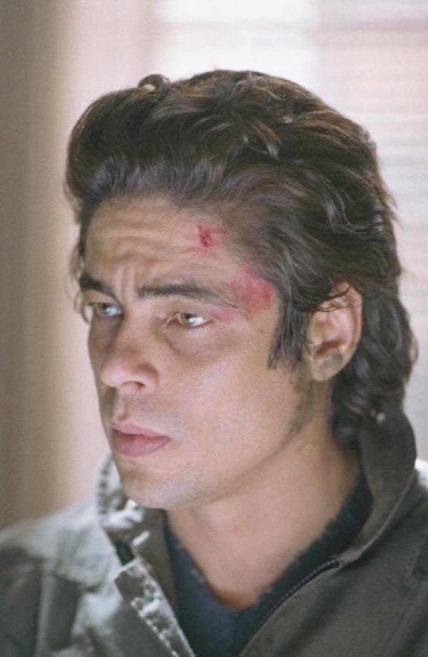 Bild 1 von 6: Aaron Hallam (Benicio del Toro) ist ein gesuchter Mörder und wird von John Bonham (Tommy Lee Jones) verfolgt...