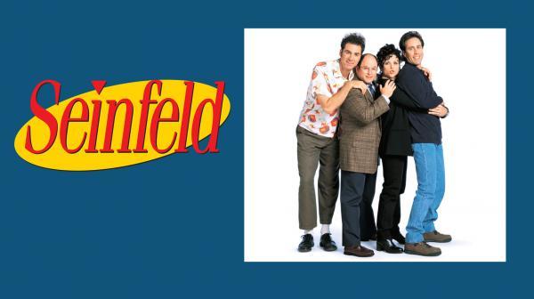 Bild 1 von 3: v.l.n.r.: Cosmo Kramer (Michael Richards), George Costanza (Jason Alexander), Elaine Benes (Julia Louis-Dreyfus) und Jerry Seinfeld (Jerry Seinfeld).