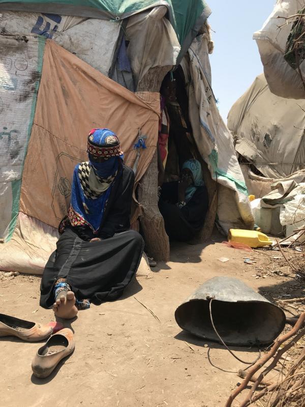 Bild 1 von 4: Flüchtlingslager im Jemen.