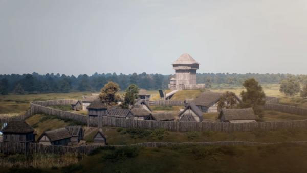 Bild 1 von 5: Die ersten Burgen des Mittelalters waren noch aus Holz errichtet.