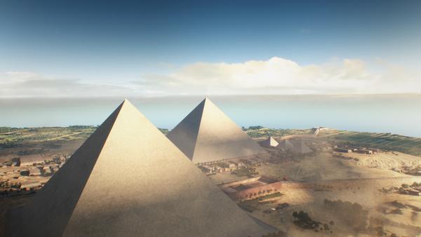Bild 1 von 15: Die Cheops-Pyramide ist 146 Meter hoch. Weltrekord für vier Jahrtausende. Einst war sie mit polierten Kalksteinplatten verkleidet, ihre Spitze war vermutlich aus Gold.