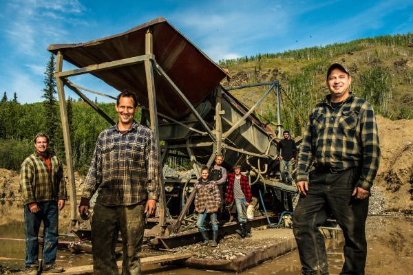 Bild 1 von 1: Team Yukon Gold bei der Suche nach Goldschätzen