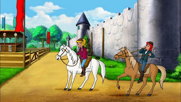 Bild 1 von 9: Bibi und Tina reiten um die Wette.