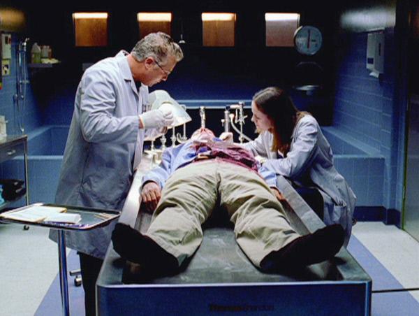 Bild 1 von 2: Gil (William Petersen) und Sara (Jorja Fox) sto�en bei einem Serienmord auf Ungereimtheiten. Sitzt ein Unschuldiger hinter Gittern?