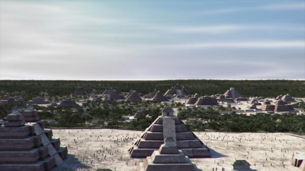 Bild 1 von 15: Schon vor über 2000 Jahren bauten die Maya mitten im Dschungel von Mittelamerika gigantische Städte. Sie errichteten sogar gigantische Pyramiden die so groß waren, dass man lange davon ausging, die riesigen Strukturen im Dschungel seien Berge.