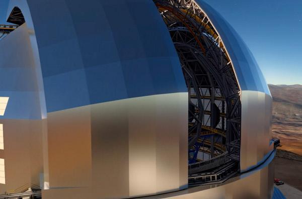 Bild 1 von 11: Das größte optische Teleskop der Welt trägt den Namen ELT. Die Abkürzung steht für Extremely Large Telescope. Das ELT wird auf einem Berg in der Atacama-Wüste in Chile gebaut.