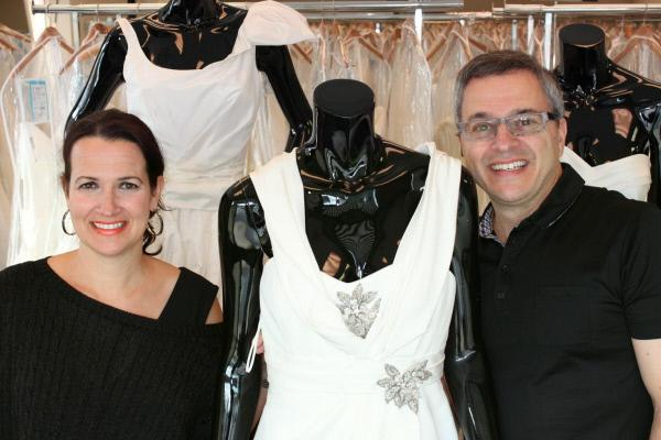 Bild 1 von 6: Rick (r.) und Leslie (l.) DeAngelo sorgen dafür, dass es für jeden Geldbeutel das perfekte Hochzeitskleid gibt ...