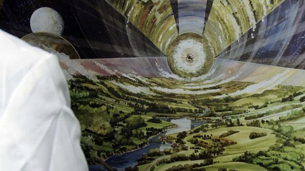 Bild 1 von 2: Im Inneren der Arche erschaffen die Wissenschaftler künstlich eine erdähnliche Atmosphäre.