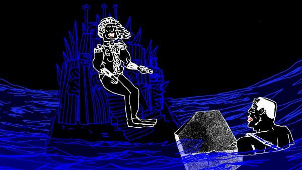Bild 1 von 3: In Mariola Brillowskas naiv-absurdem Animationsfilm erhält die uniformierte Meerjungfrau \