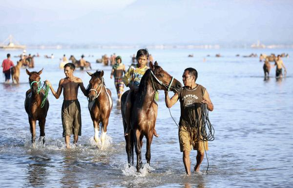 Bild 1 von 1: Vor dem Rennen - Morgenstimmung am Meer.