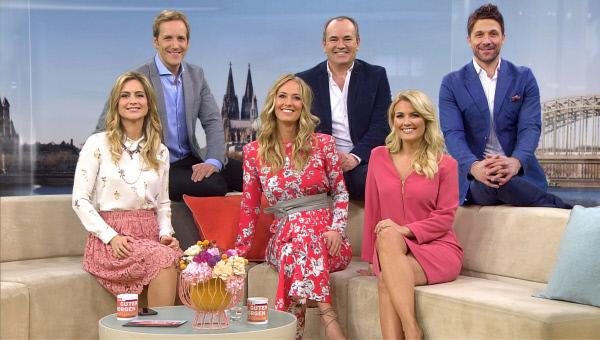 Bild 1 von 5: Die drei RTL-Moderations-Teams von 'Guten Morgen Deutschland': (v.l.) Susanna Ohlen und Jan Hahn, Angela Finger-Erben und Wolfram Kons, Jennifer Knäble und Florian Ambrosius.