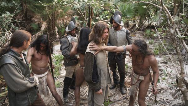 Bild 1 von 6: Erstes Zusammentreffen mit den Ureinwohnern Amerikas.