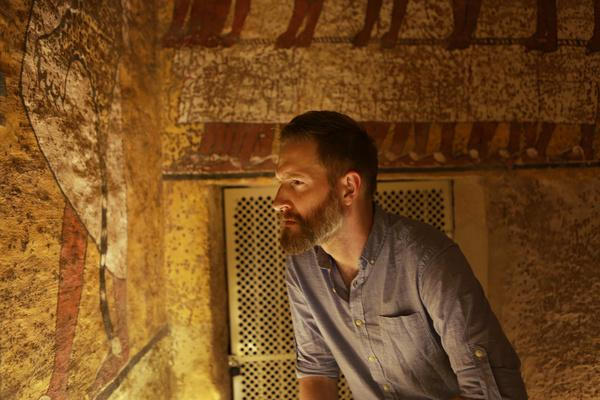 Bild 1 von 2: Tutanchamuns Grabkammer.