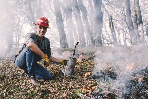 Bild 1 von 3: Feuer mit Feuer bekämpfen. In Kalifornien ist es eine uralte Technik, die schon die Ureinwohner angewandt haben. Heute erfreut sich die Methode der so genannten \