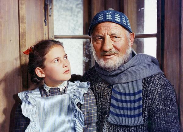 Bild 1 von 6: Elsbeth Sigmund als Heidi, Heinrich Gretler als Alpöhi