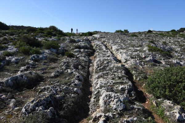 Bild 1 von 8: Woher die tiefen Schleifspuren im Kalkstein der Insel Malta stammen, ist bis heute umstritten.