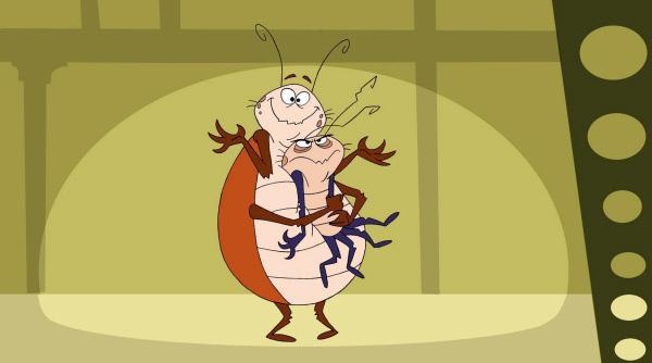 Bild 1 von 5: Rube und Reg sind Kakerlaken und Brüder. Aber sie sind alles andere als gewöhnlich, da sich Rube in RoboRoach - einen Superkäfer mit erstaunlichen Fähigkeiten - verwandeln kann.