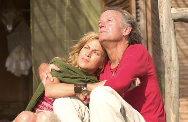 Bild 1 von 5: Dr. Austin Shepard (Peter Fonda, r.) und Brenda (Tamsin McCarthy, l.) glauben, dass das Ende der Welt naht.