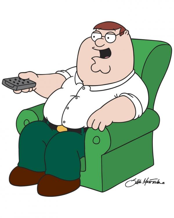 Bild 1 von 24: (7. Staffel) - Peters Lieblingsbeschäftigung: Auf seinem Sessel fernsehen!