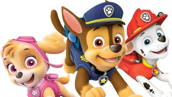 Bild 1 von 16: Sie sind ein unschlagbares Team (v.l.): die immer lächelnde Skye, das stolze Polizeihündchen Chase und der tollpatschige Feuerwehrwelpe Marshall.