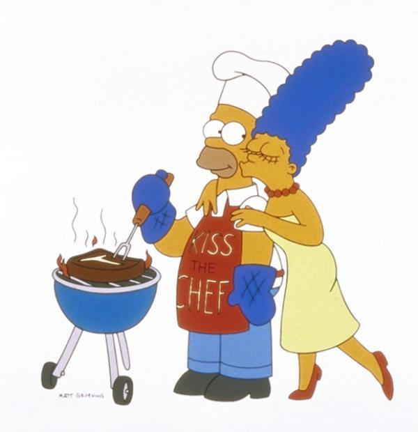 Bild 1 von 11: (9. Staffel) - Marge (r.) macht sich andauernd Sorgen um Homer (l.).