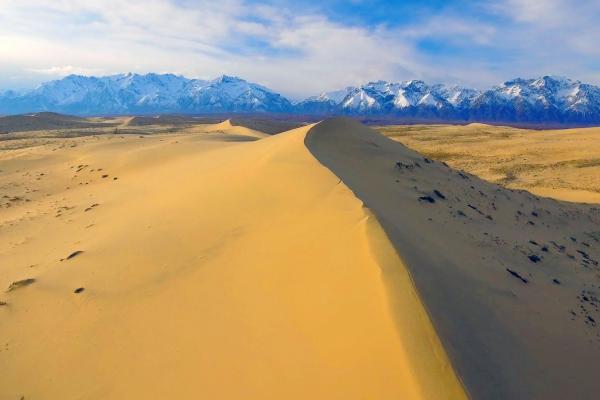 Bild 1 von 6: Die Tschara-Sandwüste in Sibirien