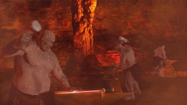Bild 1 von 2: Der Legende nach haben die körperlich besonders starken Zyklopen Waffen für die Götter geschmiedet.
