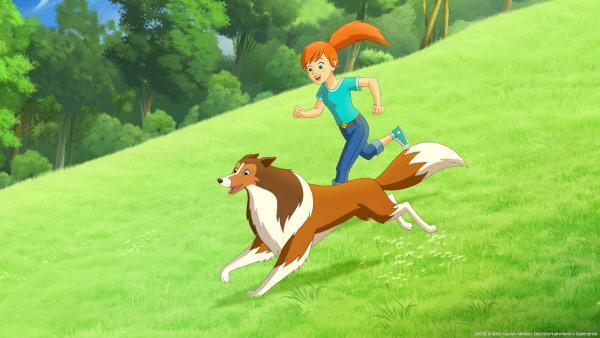 Bild 1 von 3: Zoé und Lassie erfreuen sich an der wunderschönen Landschaft in der Graham, Zoes Vater, als Kind lebte.