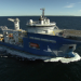 North Sea Giant - Montageschiff im Nordmeer