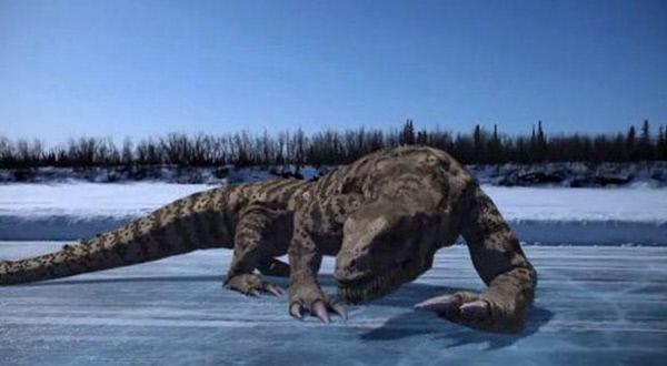 """Bild 1 von 5: Bei Sprengungen in der Mine """"Predator X? wurde ein pr?historischer Dinosaurier wieder zum Leben erweckt. Der treibt nun sein Unwesen im Camp und t?tet jeden, der sich ihm in den Weg stellt."""